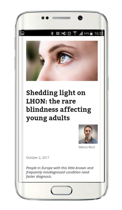 Santhera LHON in the family: living under the spectre of an hereditary eye disease smart phone view